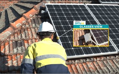 Solar Remote Worker with Smart Glasses